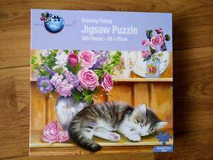 Dreamy Rosey 500 Piece Jigsaw Puzzle CAT / Kitten / pet / flowers
