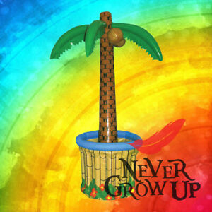 LARGE 170cm Inflatable Palm Tree Drinks Beer Cooler BBQ Hawaiian Summer Pool ``