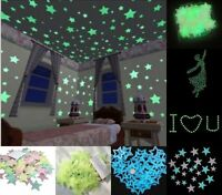 100er Aufkleber Leuchtende Sterne Nachtleuchtende Schlafzimmer Dekor Wandtattoo