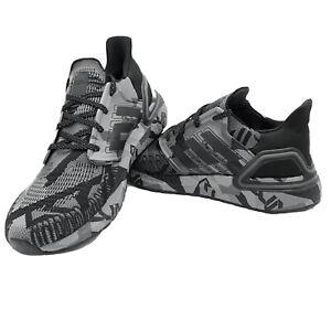 Adidas Ultraboost 20 Mens Running Shoes Geometric Black Grey boost FV8329 NEW