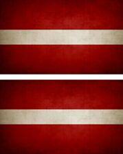 2x Sticker flag vinyl country vintage LV latvia