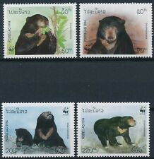 [178] Laos 1994 Bears WWF good Set very fine MNH Stamps