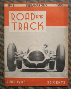 ROAD & TRACK Magazine #3 1948 Auto RACING vtg INDY 500 Jaguar So-Cal BellyTanker