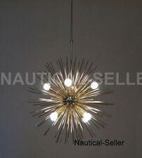 8 Lights Mid Century Modern Brass Sputnik Urchin Chandelier Light Fixture