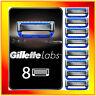 Gillette Labs 5 Lame Lamette Rasoio Per Uomo Barba Rasatura Blades Ricambio X8
