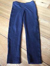 Girls Navy Denim Style Leggings Gold Stitching Detail George 10-11 Years VGC