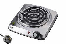 Electric Coil Hot Plate Portable Hob Shisha Hookah Stainless Steel 1000W