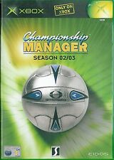 Championship Manager - Season 02/03 Microsoft Xbox 3+ Soccer Game