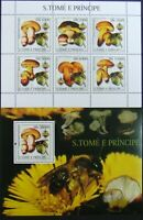 Sao Tome & Principe-Mushrooms and Bees-1M/Sh.+1S/Sh.,MNH**.STP 66