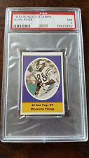 1972 SUNOCO STAMPS MAIL IN VERSION ALAN PAGE VIKINGS BEARS NOTRE DAME PSA 7 NM
