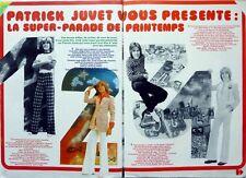 PATRICK JUVET Top model =  coupure de presse 3 pages 1973 !!! CLIPPING