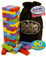 Large Wooden Tower Deluxe Stacking Jenga Adults Kids Outdoor Party Classic Game