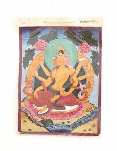 Thangka Malerei, Kunsthandwerk aus Nepal, Original aus Nepal Wanddekoration