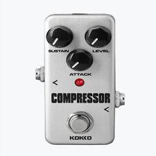 Mini Compressor Electric Guitar Effect Pedal w/ True Bypass Silver