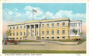ELKO, Nevada NV    ELKO COUNTY GENERAL HOSPITAL    ca1920's Vintage Postcard