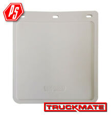 2 TRUCKMATE PLAIN MUD FLAPS WHITE 250mm x 230mm (10 inch drop x 9 inch wide)
