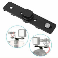 Double Hot Shoe Mount Extension Bar Dual Bracket 1/4'' Screw for DV DSLR Camera