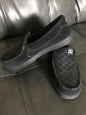 DC Shoes Villain Slip On Black Suede House Loafers Skateboarding Mens 6