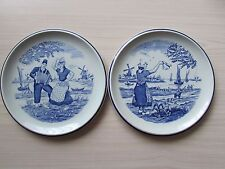 "2 X DELFT PLATES MADE FOR ROYAL SPINX BY BOCH HOLLAND BELGIUM, 6.5"" DIAMETER."