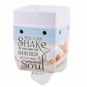 Elanze Shake The Sand from Shoes Beach Ocean Stoneware Plug-in Wax Oil Warmer