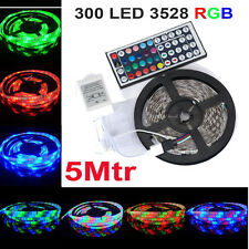 IMPERMEABLE 5m 300Led 3528SMD RGB Flexible Tira Luz 12v + A DISTANCIA CONTROL