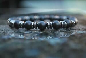 Handgefertigtes Armband Onyx Naturstein Perlen 8mm Perlenarmband Oster Geschenk