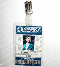 Iron Man ID Badge Tony Stark CEO Marvel Cosplay Prop Costume Novelty Comic Con