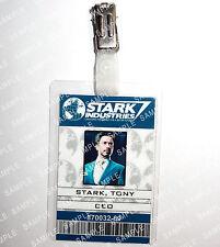 Iron Man ID Badge Tony Stark CEO Marvel Cosplay Prop Costume Novelty Comic Con
