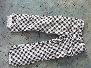 Women's BURTON black check plaid snow pants Sz. S