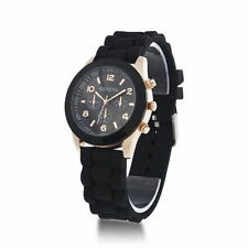 Geneva Unisex Stylish Silicone Jelly Gel Quartz Analog Wrist Watch