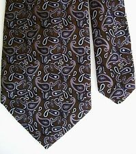 "Saks Fifth Avenue Men's Silk Paisley Neck Tie Brown 3 3/4"" x 58"""