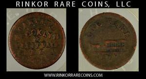 """1871 OAKLAND BROOKLYN """"ONE FARE"""" TOKEN COIN !"""