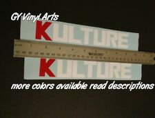 2x Kulture Decals Windshield Banners Car Stickers Graphics Honda Kseries Honda