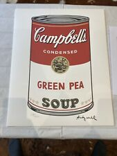 ANDY WARHOL Pop Art Campbell's Soup Series 1 Edition Of 3000 Carnegie 1986 + COA