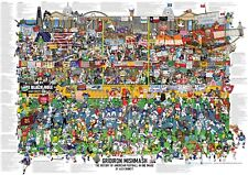 Gridiron Mishmash - The History of American Football in One Image Poster