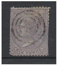 Mauritius - 1863, 6d Slate stamp (No Wmk) - Used - SG 50