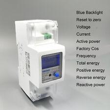 100A 230V 50Hz 60Hz din rail Energy meter voltage current DDS238-2 SW KWH