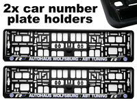 2x Doming CAR Number Plate Surround Holder Frames BEST FIT ABT for VW VOLKSWAGEN