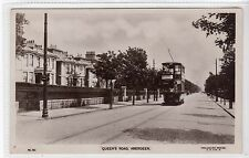 QUEEN'S ROAD, ABERDEEN: Aberdeenshire postcard with tram (C25031)
