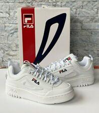 Fila Disruptor II X FX-100 LUX Women's (Size 6.5) White / Navy / Red