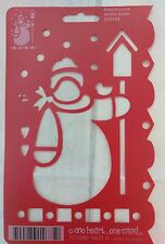 Stencils Snowman With Bird One Heart One Mind New Old Stock STE702