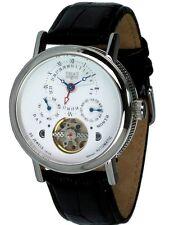 TRIAS Uhren Kalenderuhr Automatikuhr 35 Steine Herrenuhr Lederuhrband