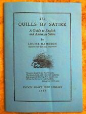 ENOCH PRATT FREE LIBRARY guide booklet: THE QUILLS OF SATIRE 1938 W.P.A. Workers