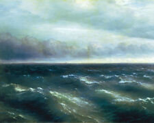 The Black Sea Ocean Sea Scape Russian Painting Giclee Art Real Canvas Print