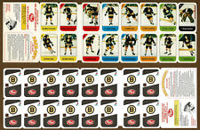 1982-83 Post Canada Redemption Team Panel, Boston Bruins, Bourque, Park, Kasper