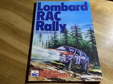 Lombard/RAC rally Official programme 1983.