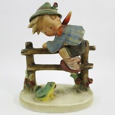 "HUMMEL #201/1 ""Retreat to Safety"" TMK-2 FB FULL BEE Scared Boy Child Fence Frog"