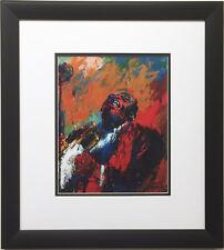 "LeRoy Neiman ""Louie Armstrong Singing - SATCH"" CUSTOM FRAMED Art Print JAZZ"
