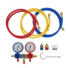 Gruppo Manometrico Condizionatore 3 Vie Gas R404a R22 R410a R134a + Tubi Fruste