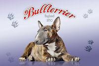 Bull Terrier Perro Letrero de Metal Arqueado Tin Sign 20 X 30cm CC0333